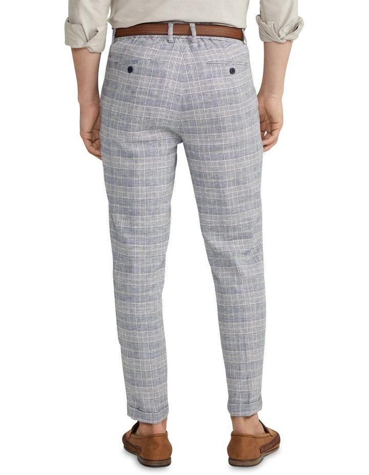 Hooky Linen Check Crop Chino Blue image 2