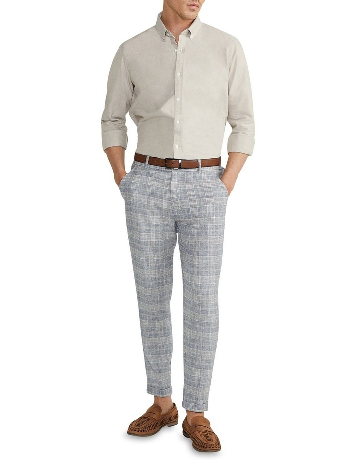 Hooky Linen Check Crop Chino Blue image 5
