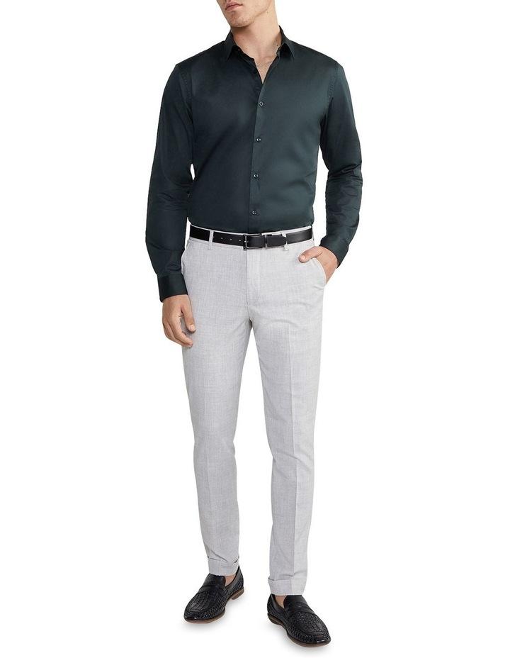 Auto Slim Dress Shirt Green image 5