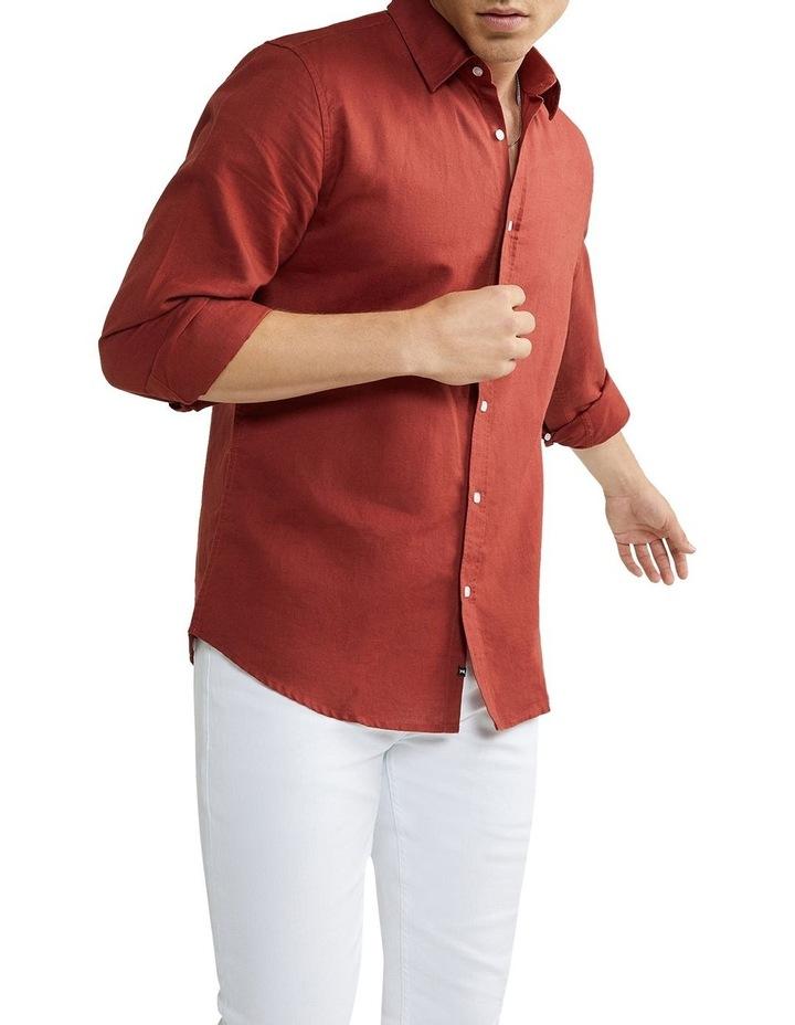 New England Linen Shirt Rust image 1