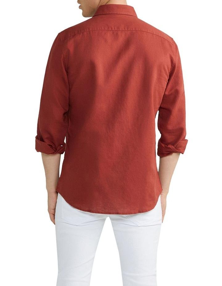 New England Linen Shirt Rust image 2