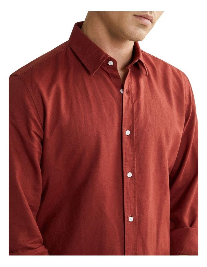 New England Linen Shirt Rust image 3