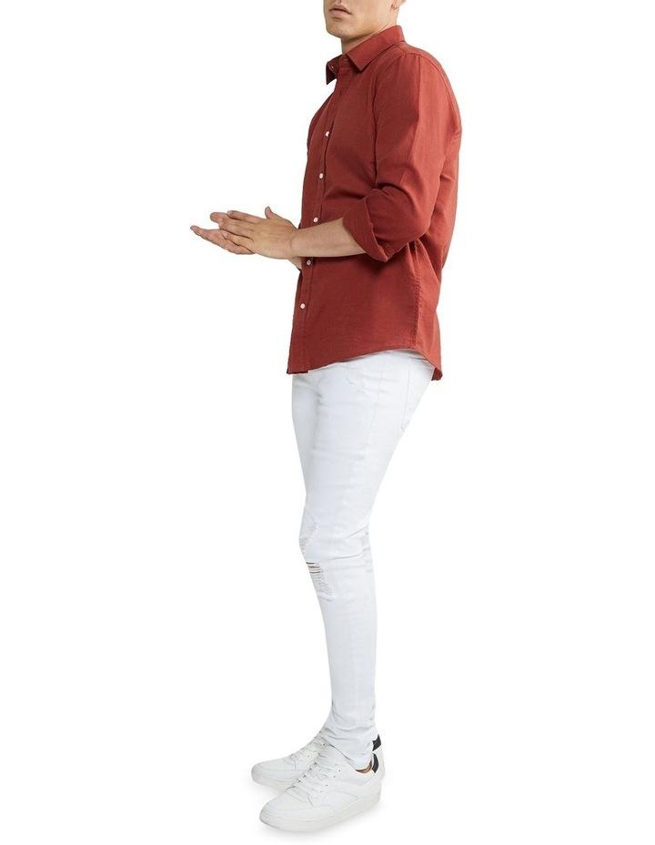 New England Linen Shirt Rust image 4