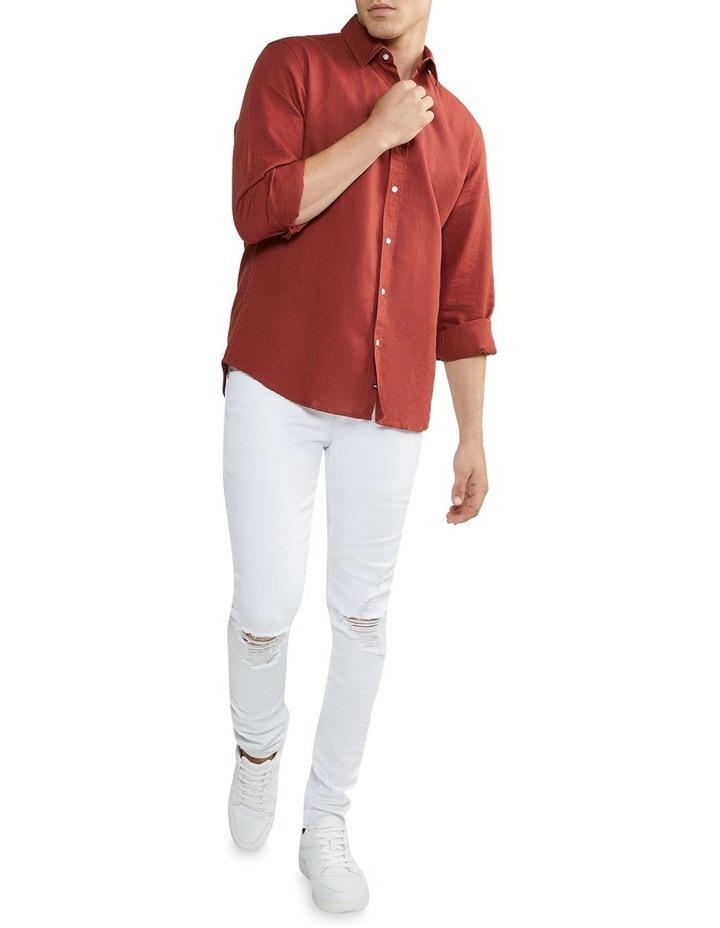 New England Linen Shirt Rust image 5