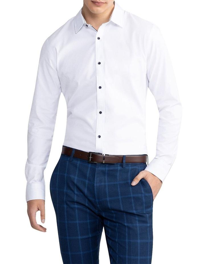 Heart Textured Slim Shirt White image 1