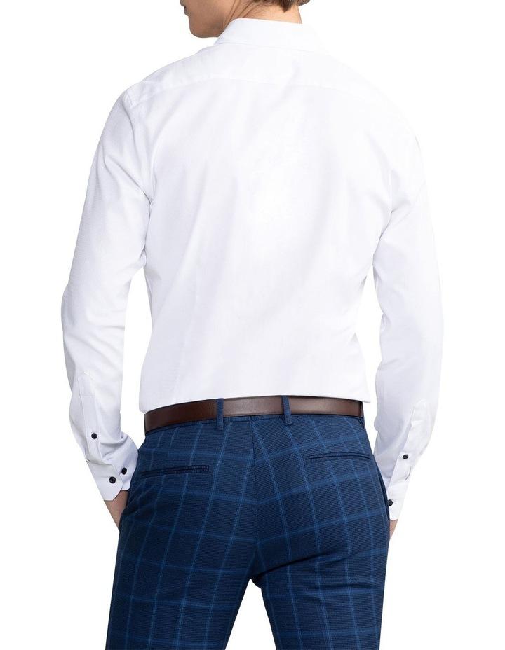 Heart Textured Slim Shirt White image 2