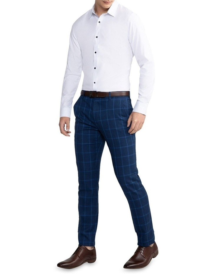 Heart Textured Slim Shirt White image 4