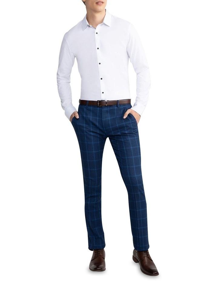 Heart Textured Slim Shirt White image 5