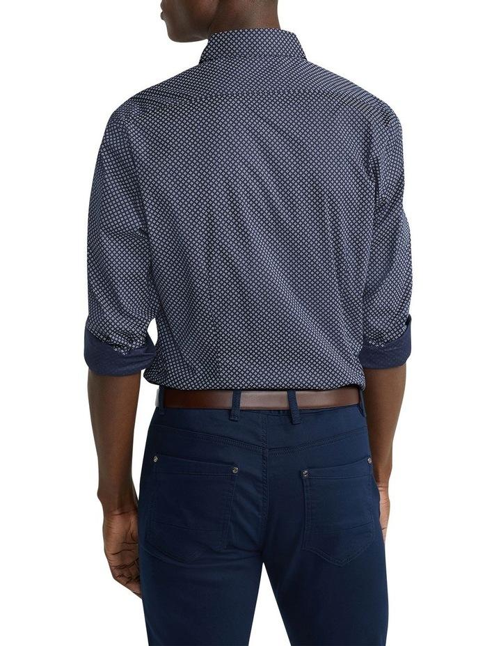 Eddie Printed Slim Shirt Navy image 2