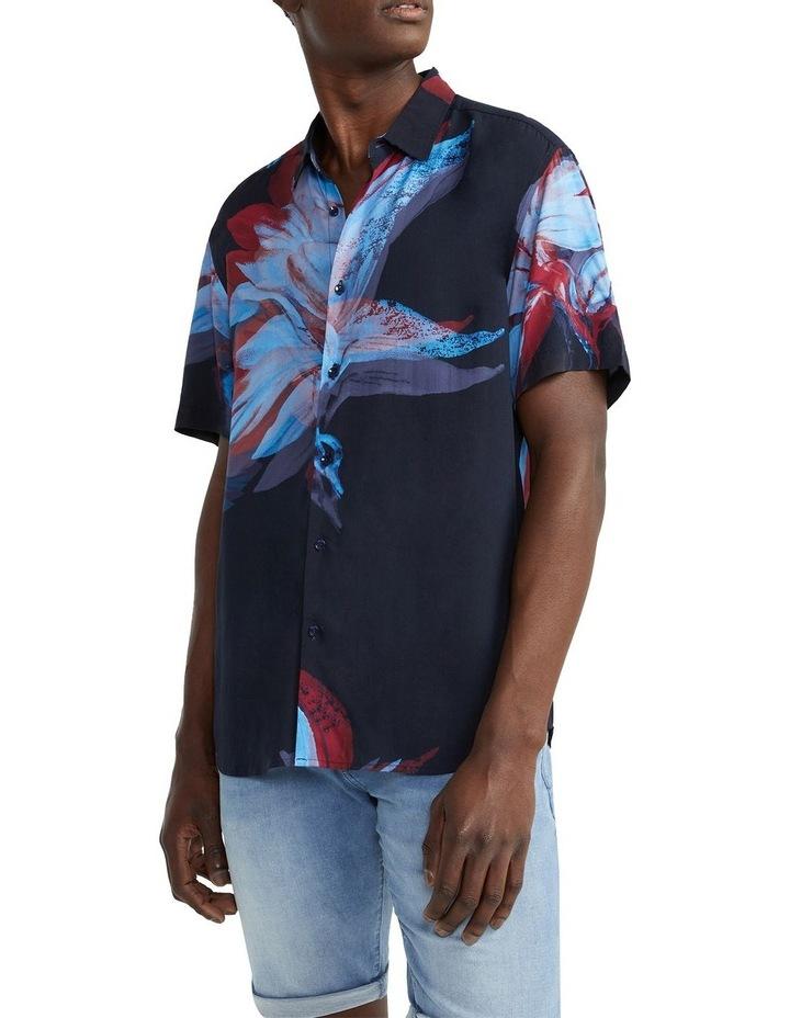 Fuzz Viscose Shirt Navy image 1