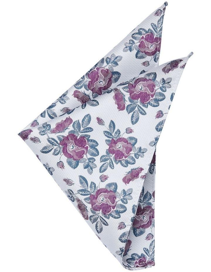 Binding Floral Pocket Square Grey image 1