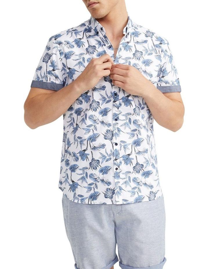 Flawless Textured Print Shirt White image 1