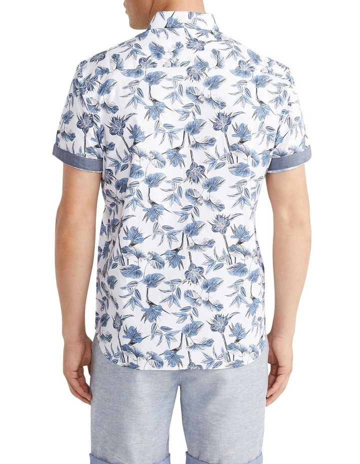 Flawless Textured Print Shirt White image 2