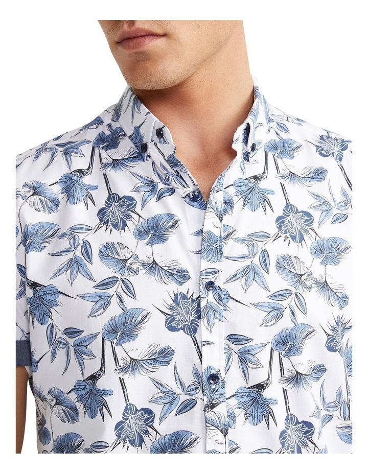 Flawless Textured Print Shirt White image 3