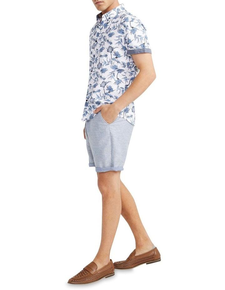 Flawless Textured Print Shirt White image 4
