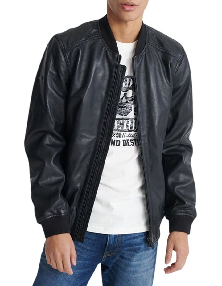 Light Leather Bomber image 1