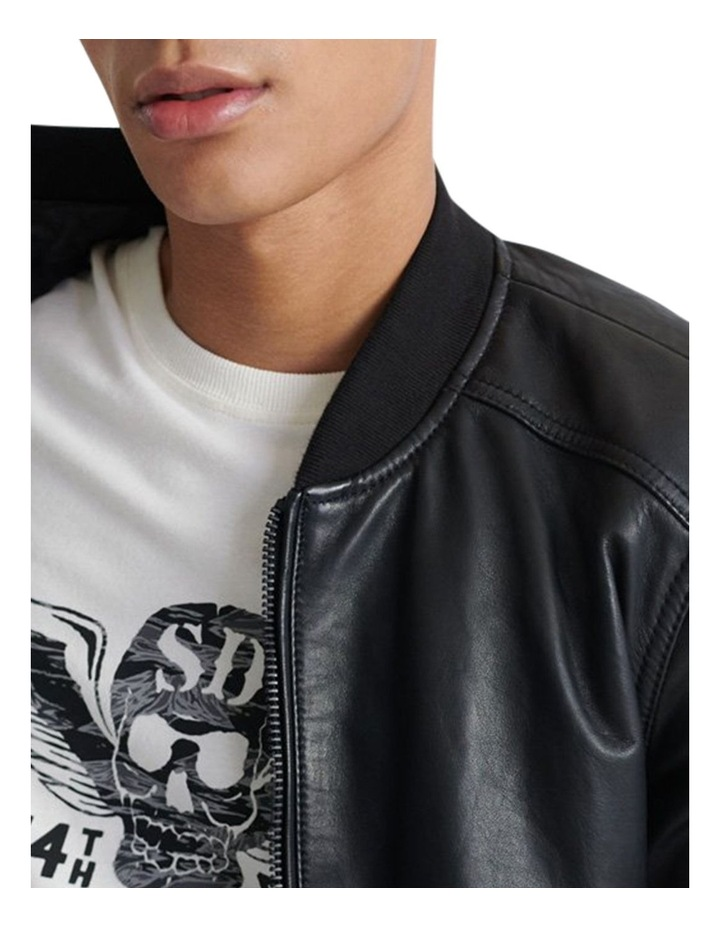Light Leather Bomber image 2