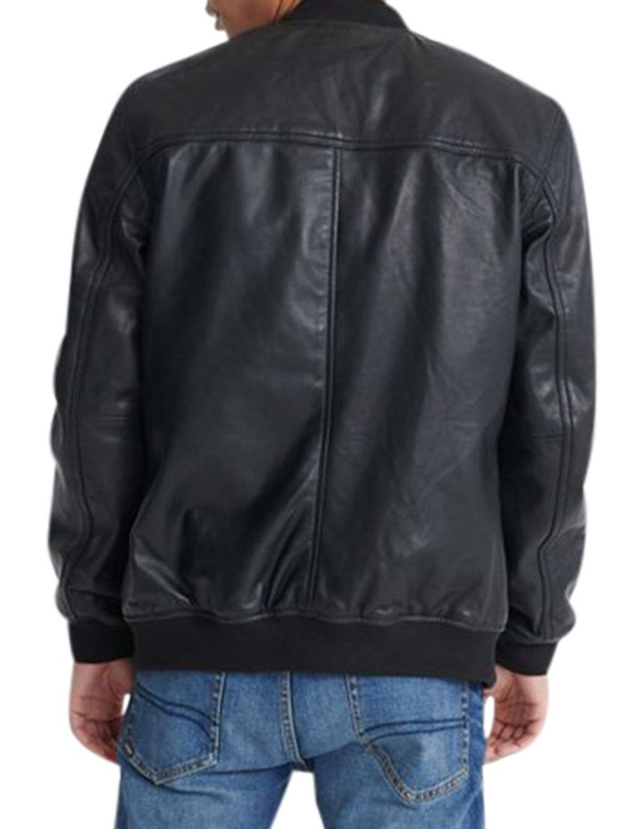Light Leather Bomber image 3