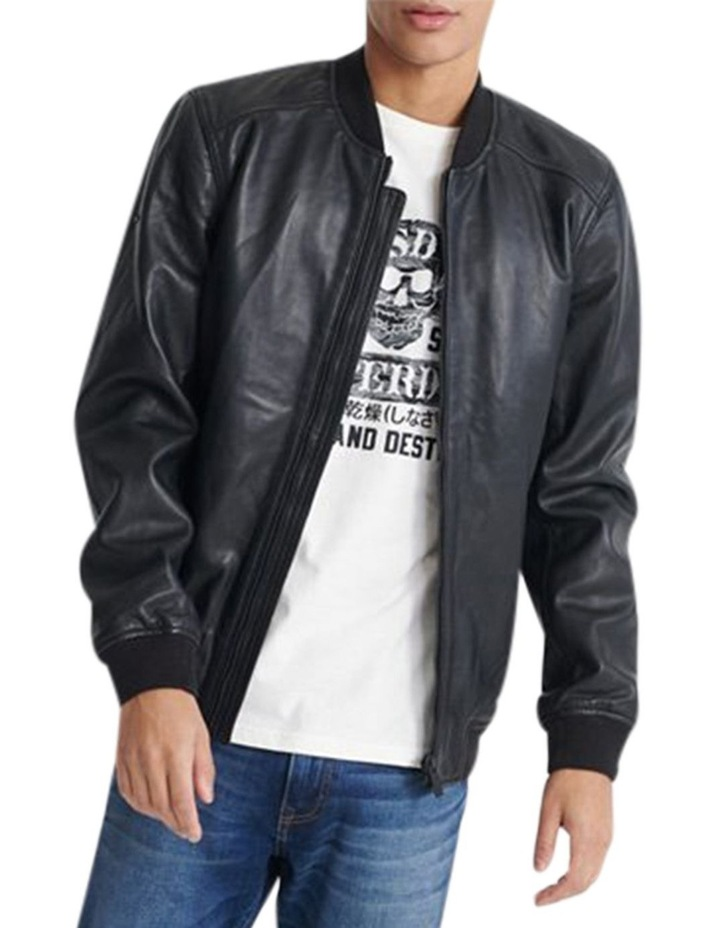 Light Leather Bomber image 4