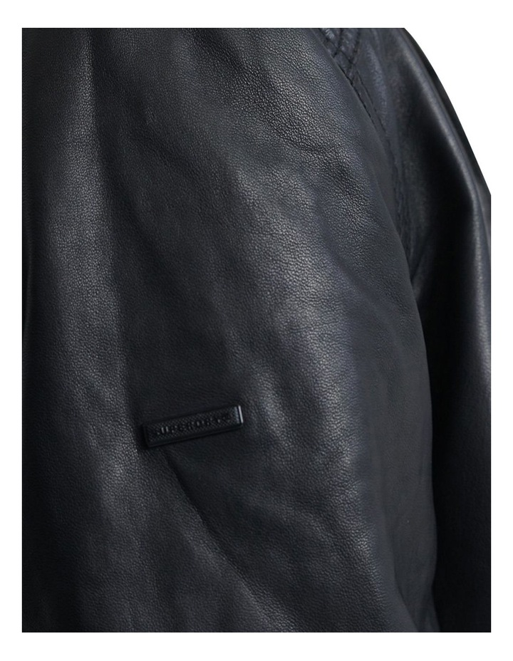 Light Leather Bomber image 6