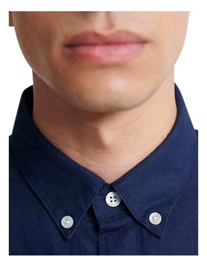 Edit Linen Button Long Sleeve Shirt image 4