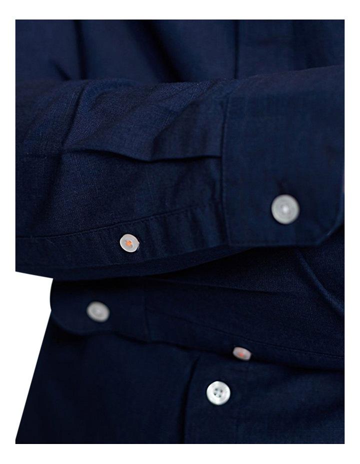 Edit Linen Button Long Sleeve Shirt image 5