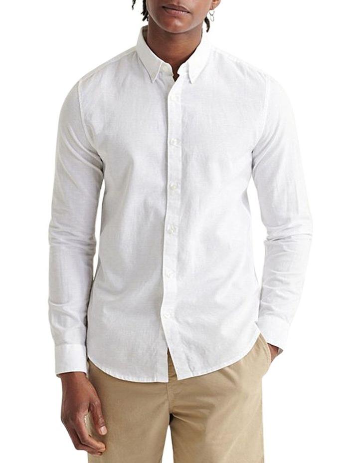 Edit Linen Button Long Sleeve Shirt image 1