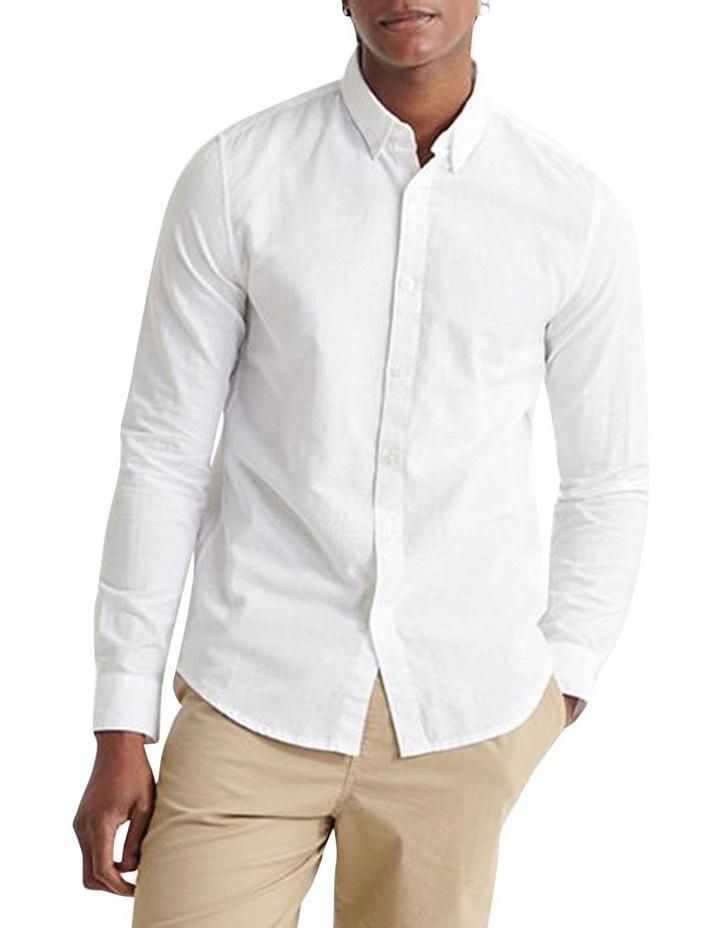 Edit Linen Button Long Sleeve Shirt image 2