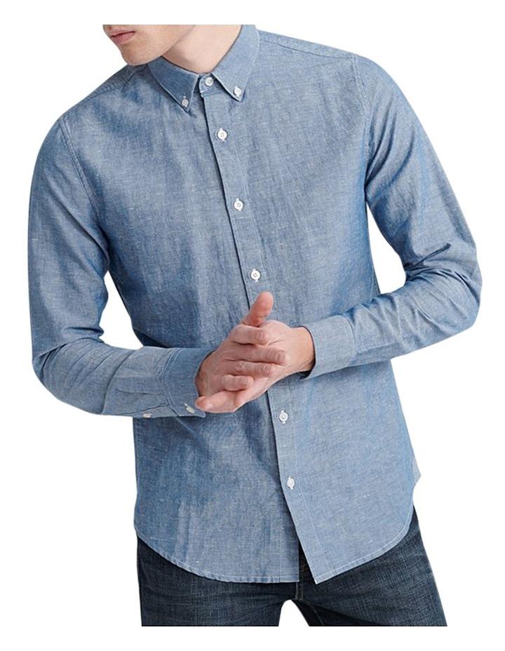 Edit Linen Button Down LS Shirt image 1