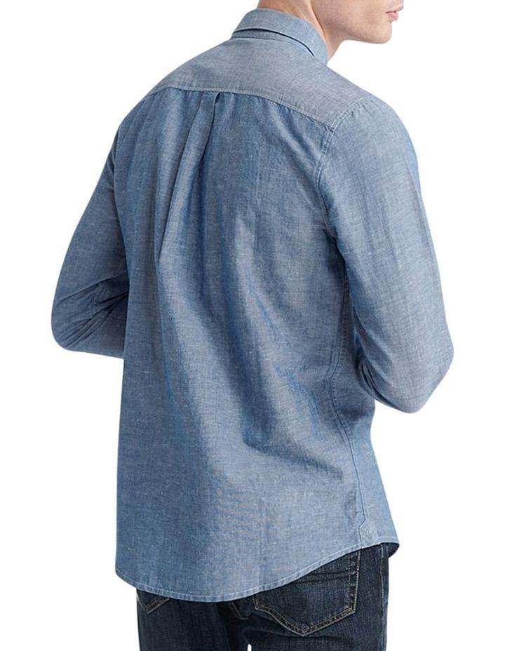 Edit Linen Button Down LS Shirt image 3