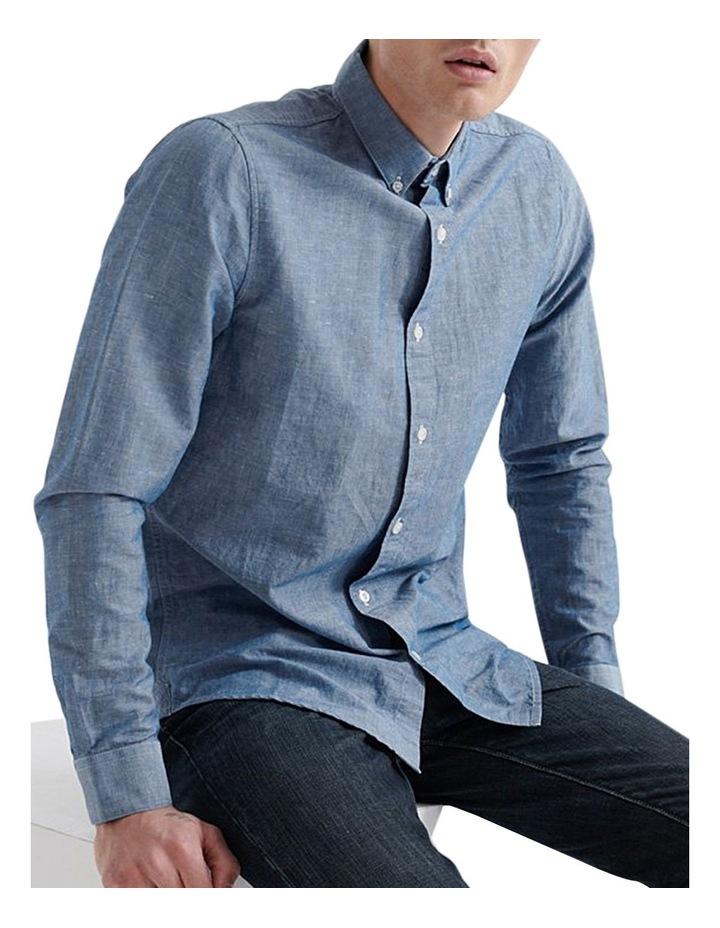 Edit Linen Button Down LS Shirt image 4