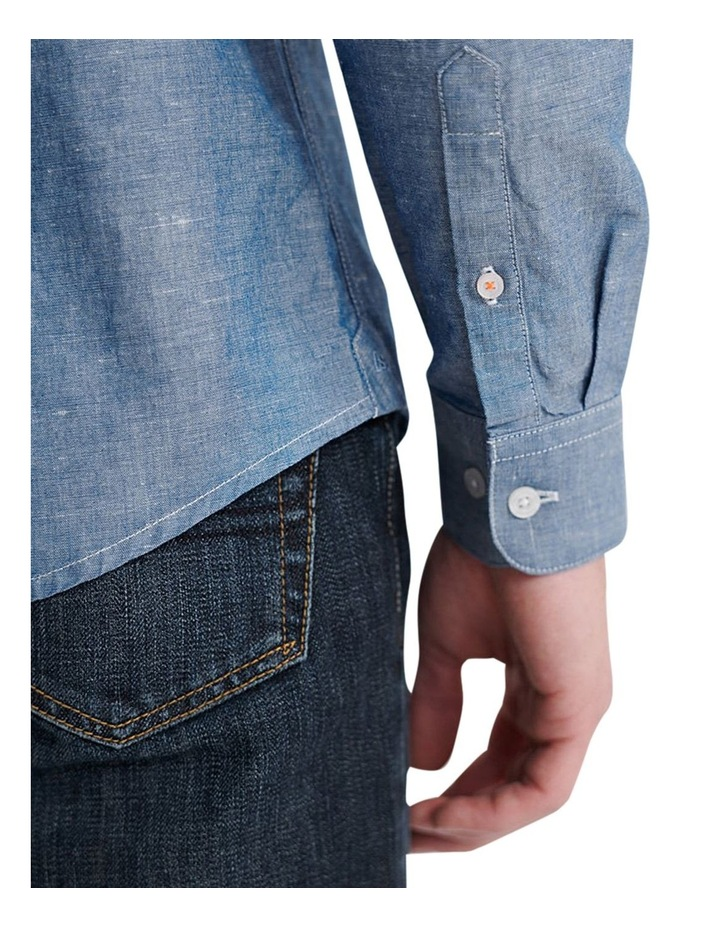 Edit Linen Button Down LS Shirt image 6