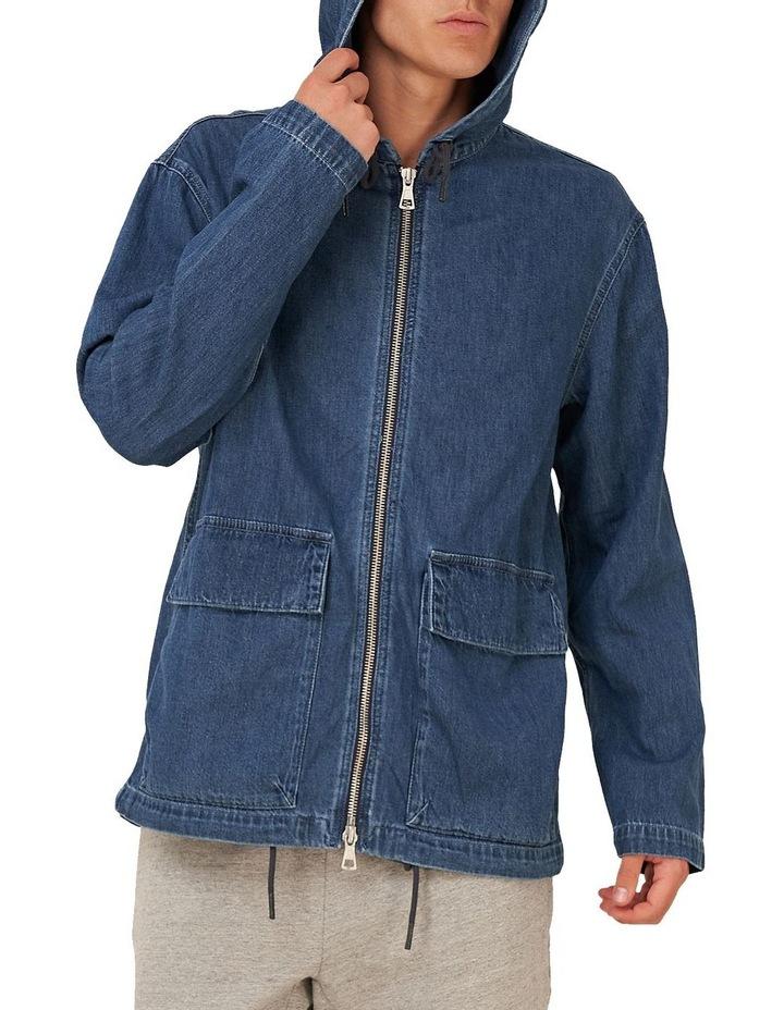 Denim Zip Hood image 2