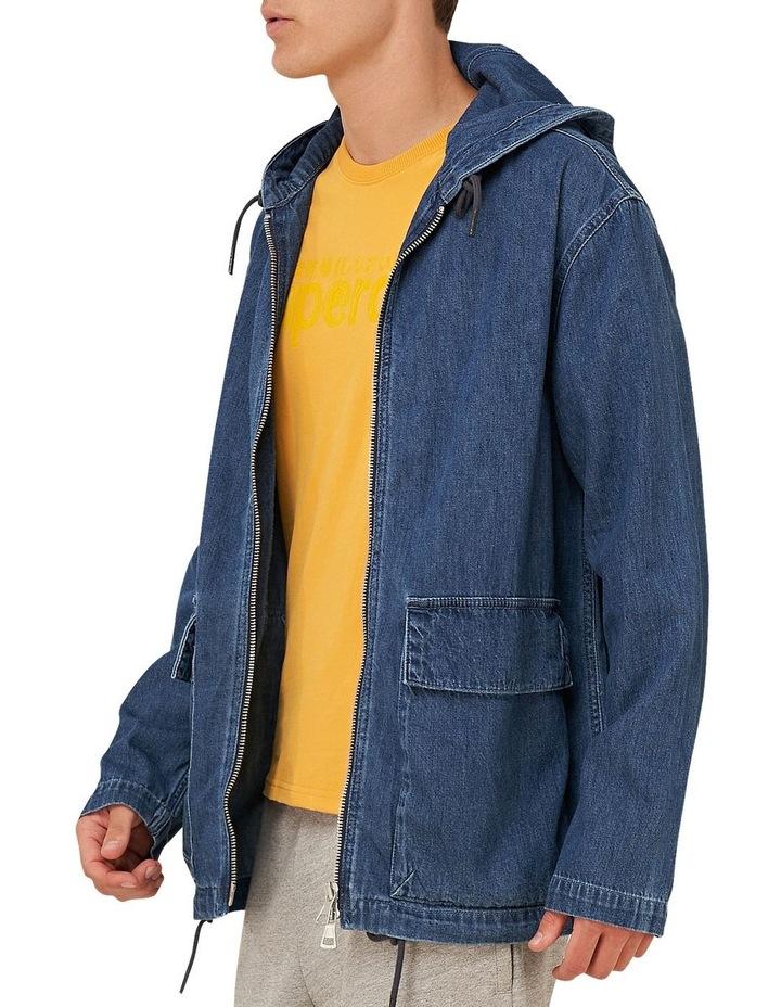 Denim Zip Hood image 3