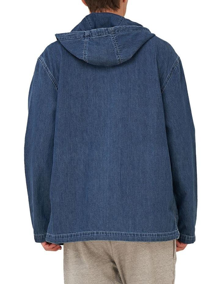 Denim Zip Hood image 4