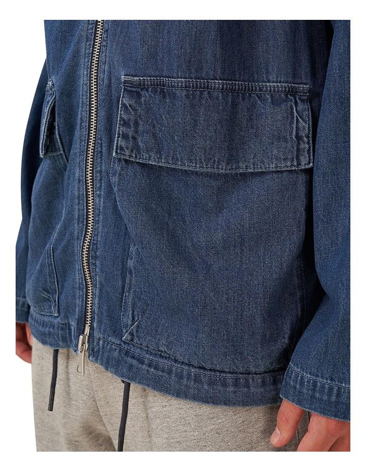 Denim Zip Hood image 5