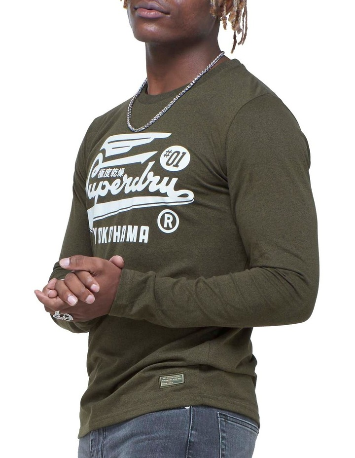 Military Long Sleeve Graphic Top image 1