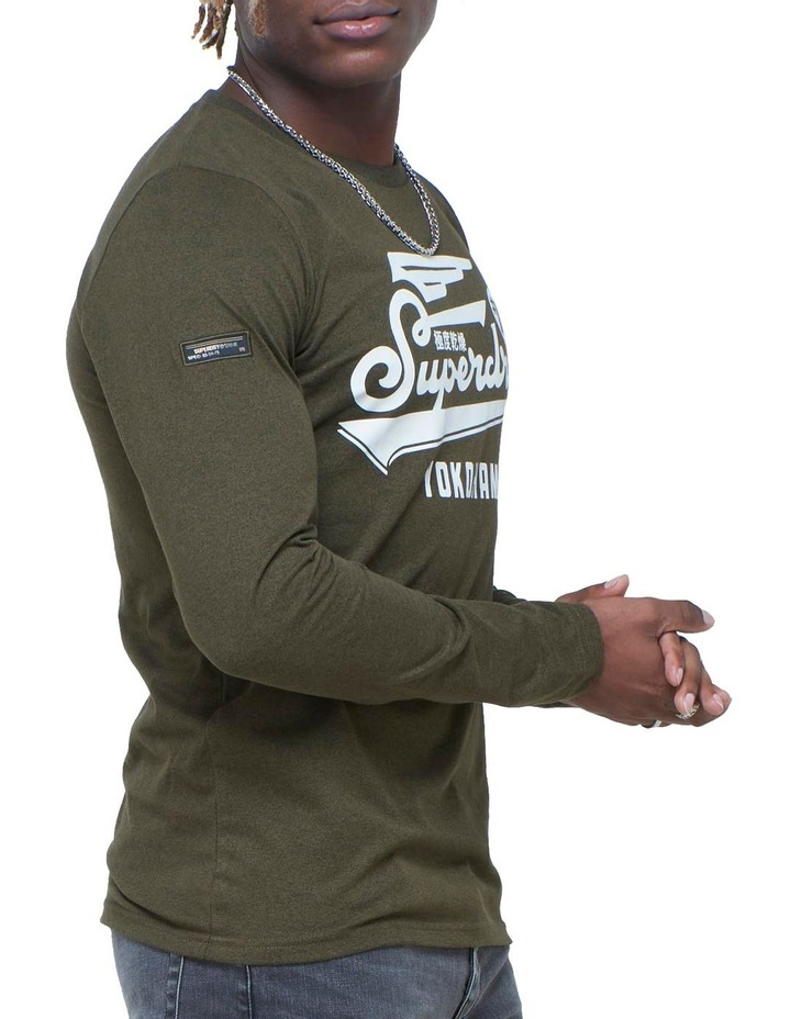 Military Long Sleeve Graphic Top image 3