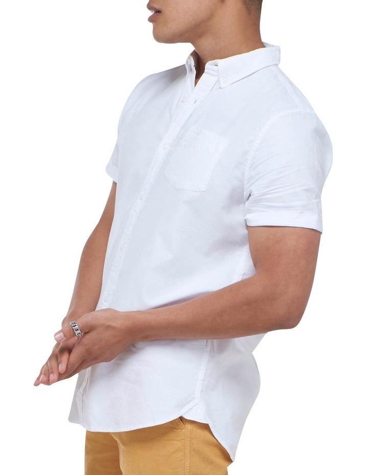 Short Sleeve Classic University Oxford Shirt White image 3