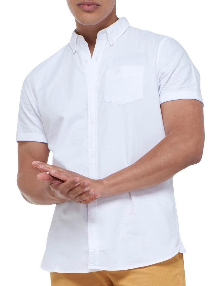 Short Sleeve Classic University Oxford Shirt White image 5