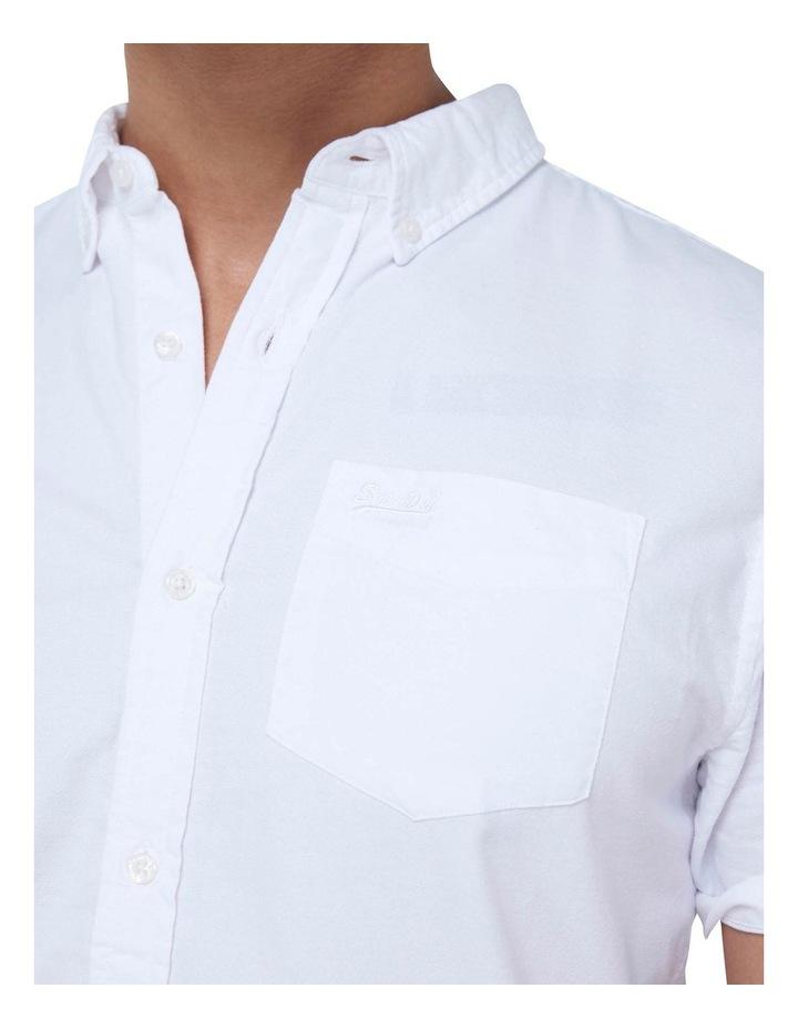 Short Sleeve Classic University Oxford Shirt White image 6