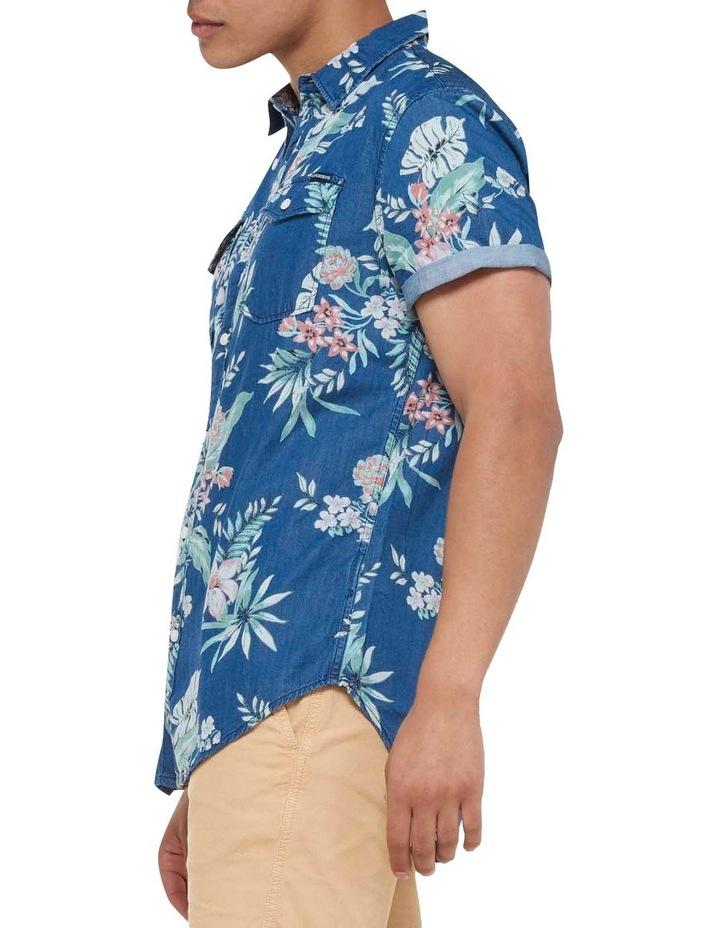 Short Sleeve Denim Loom Shirt Sun Faded Hawaiian image 3