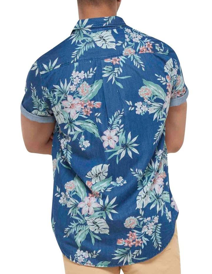 Short Sleeve Denim Loom Shirt Sun Faded Hawaiian image 4