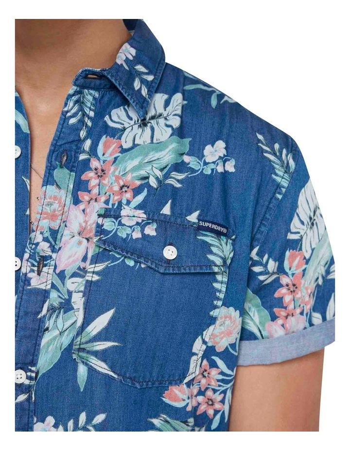 Short Sleeve Denim Loom Shirt Sun Faded Hawaiian image 6