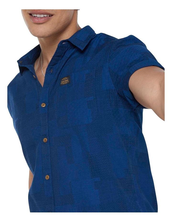 Short Sleeve Workwear Shirt Patchwork Dobby image 1