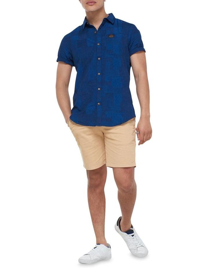Short Sleeve Workwear Shirt Patchwork Dobby image 2