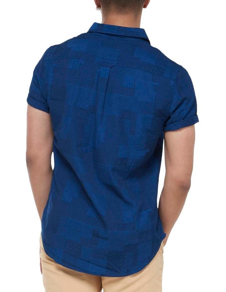 Short Sleeve Workwear Shirt Patchwork Dobby image 4