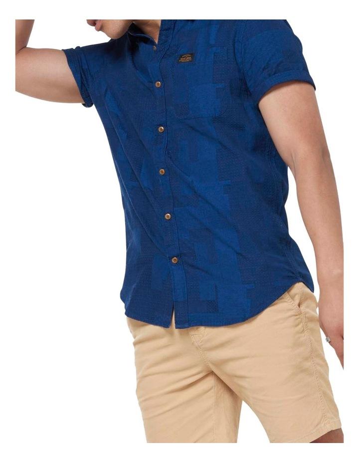 Short Sleeve Workwear Shirt Patchwork Dobby image 5
