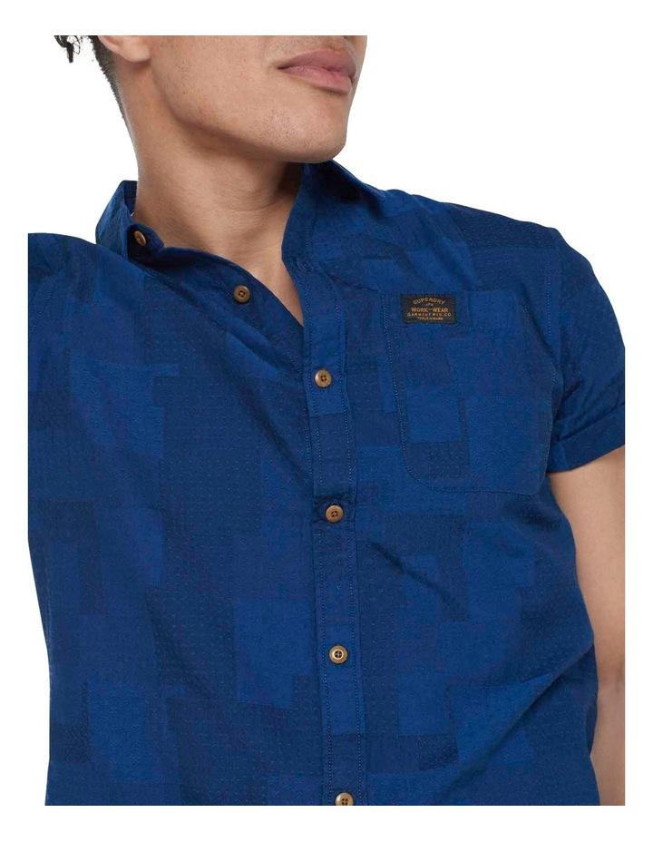 Short Sleeve Workwear Shirt Patchwork Dobby image 6