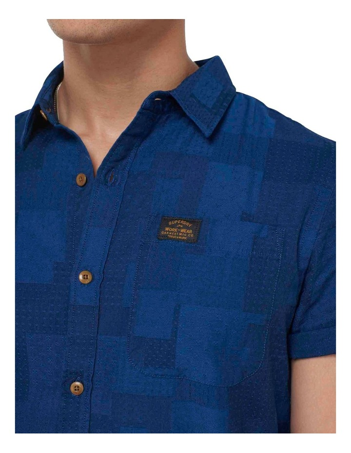 Short Sleeve Workwear Shirt Patchwork Dobby image 7